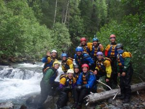 Group shot at the lone whitewater CP - we paddled with Tecnu and the Wandering Nannuts